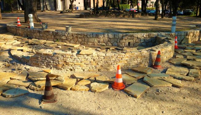 Building a pond for Roquefort-les-Pins