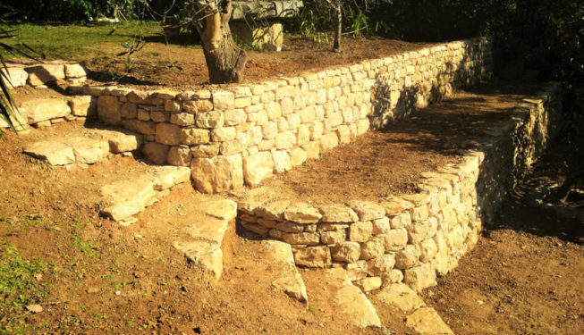 Building a wall in Roquefort les Pins - Ace of Spades Gardens